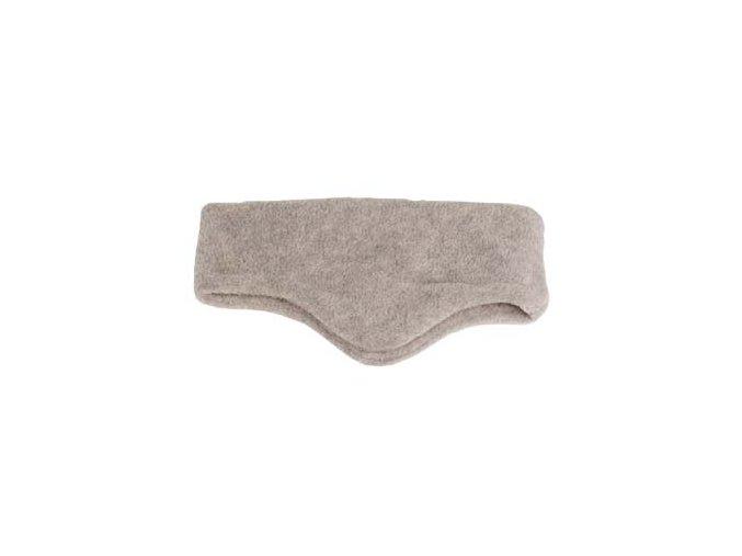 Čelenka Fleece šedá - klapky na uši