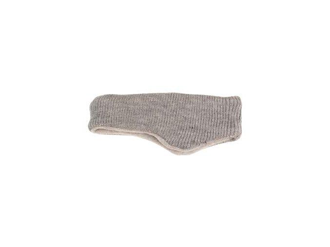 Čelenka šedá zvenku pletená, zevnitř fleece
