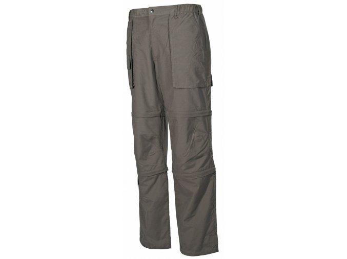 Multifunkční outdoorové kalhoty olivové Microfaser XXL