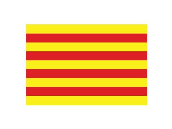 catalonia vector flag