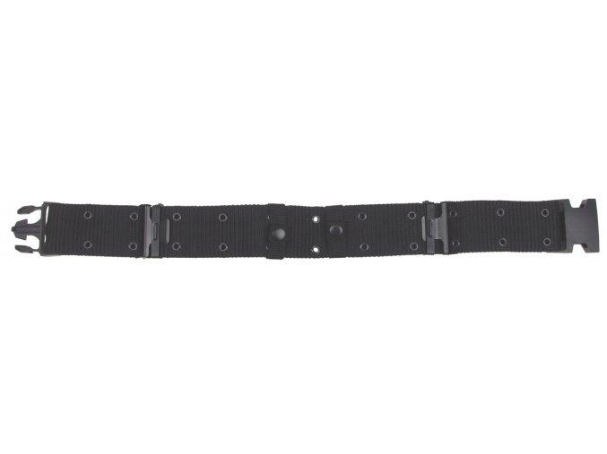 US děrovaný pásek černý s plastovou sponou LC2