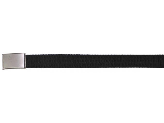 Opasek, černá barva, 3,2 cm široký, s dlouhou matně stříbrnou sponou