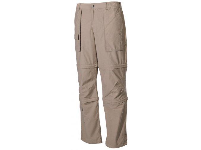 Multifunkční outdoorové kalhoty khaki Microfaser