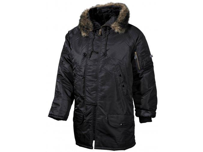Bunda Aljaška N3B černá dlouhá