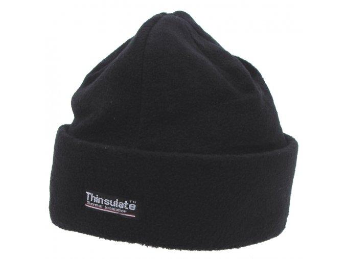 Čepice ohrnovací fleece černá Thinsulate