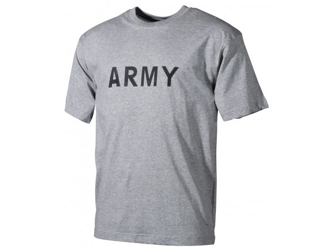 Tričko s potiskem Army šedé