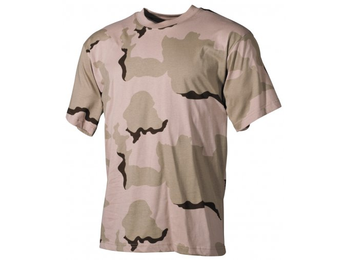 US Tričko 3 barvy desert - krátké rukávy