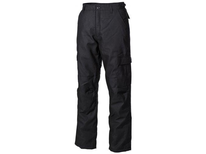 US klasické kalhoty zimní s podšívko černé