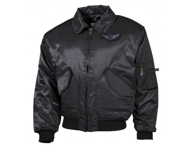 """CWU bunda """"bomber"""" černá - pevnější materiál"""