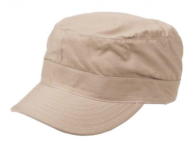 US BDU polní čepice s kšiltem Rip Stop khaki