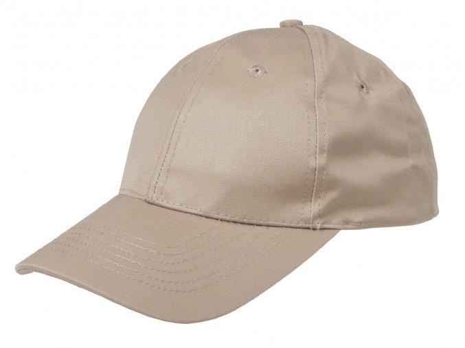 Klasická čepice s kšiltem Basebalka khaki