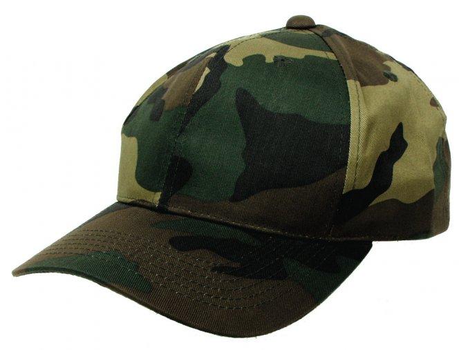 Klasická čepice s kšiltem Basebalka woodland