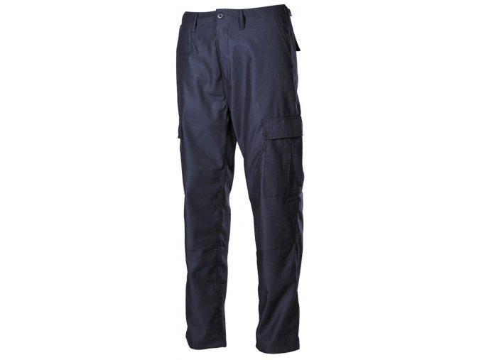 US klasické kalhoty BDU modré s podšitými koleny a sedací částí