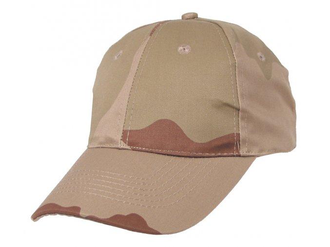 Klasická čepice s kšiltem Basebalka desert 3 barvy