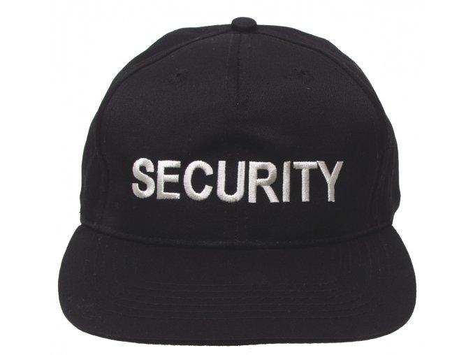 Klasická čepice s kšiltem Basebalka černá SECURITY