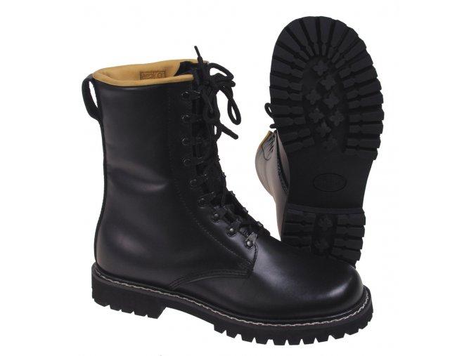 Vysoké vojenské boty černé