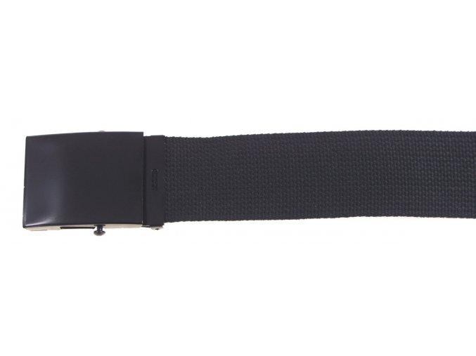 Opasek černá barva 4,5 cm široký s kovovou sponou