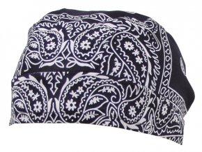 Šátek (BANDANA) námořní modrá barva, se vzorem