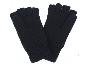Pletené rukavic bez prstů černé Thinsulate