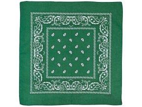 Šátek olivovo-černá barva 55 x 55 cm bavlna