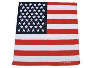 Šátek USA Vlajka 55 x 55 cm bavlna