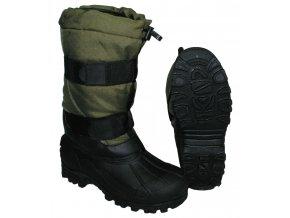 Mrazuvzdorné zimní boty Fox -40 °C s pryžovou podrážkou olivové