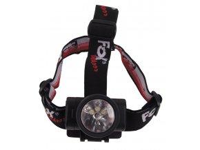 Čelovka 3 x LED 1 x kryptonová žárovka vodotěsná sklopná černá