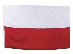 Vlajka Polsko o velikosti 90 x 150 cm AKCE