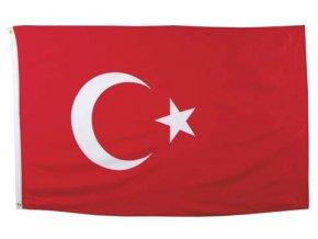 Vlajka Turecko o velikosti 90 x 150 cm AKCE