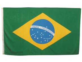 Vlajka Brazílie o velikosti 90 x 150 cm AKCE