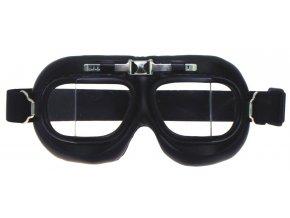 Brýle motorkářské (letecké) RAF- lomená skla ČERNÉ