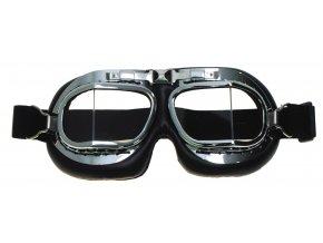 Brýle motorkářské (letecké) RAF - lomená skla CHROM