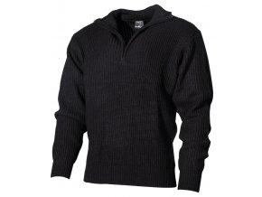 Islandský svetr Troyer černý se zipem