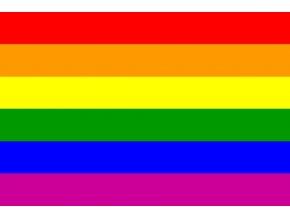 Duhová vlajka o velikosti 90 cm x 150 cm