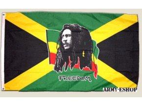 Vlajka Bob Marley o velikosti 90 x 150 cm