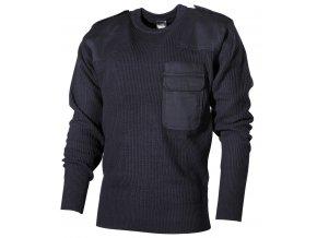 BW svetr s kapsou modrý