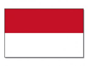Vlajka Indonésie o velikosti 90 x 150 cm