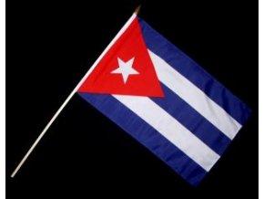 Vlaječka - praporek Kuba 30 x 45 cm