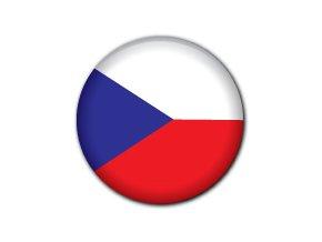Placka vlajka Česká republika 25 mm