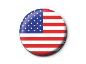 Placka vlajka USA 25 mm