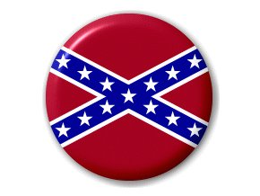Placka vlajka Konfederace (jižanská) 25 mm