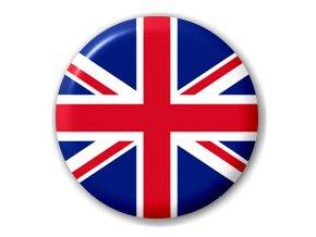Placka vlajka Velká Británie 25 mm