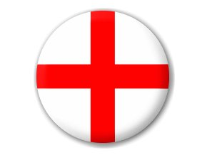 Placka vlajka Anglie 25 mm