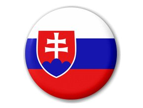 Placka vlajka Slovensko 25 mm