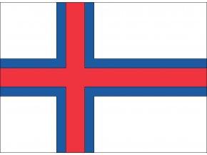 Vlajka Faerské ostrovy o velikosti 90 x 150 cm