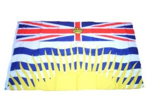 Vlajka Kanada - Britská Kolumbie 90 x 150 cm