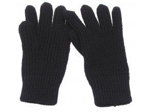 Pletené rukavice černé