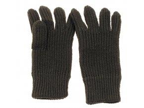 Pletené rukavice olivé