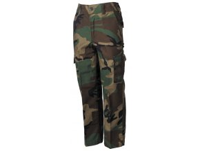 US BDU dětské kalhoty woodland