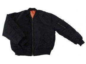"""US dětská bunda """"bomber"""" MA1 černá vel L"""